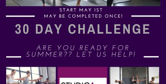 [DANCE/YOGA/BARRE *** CHALLENGE 20/30/50]  On May 1ST!